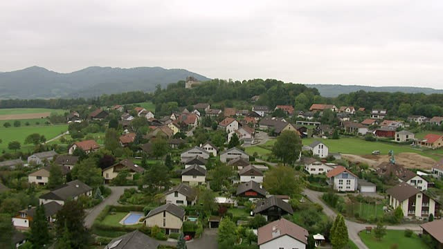 View of Habsburg and Habsburg castle