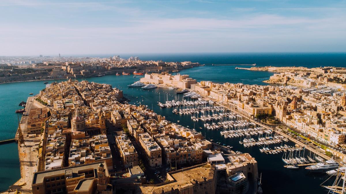 Malta Aerial of Three Cities, Senglea, Vittoriosa y Cospicua, las Tres Islas de Malta