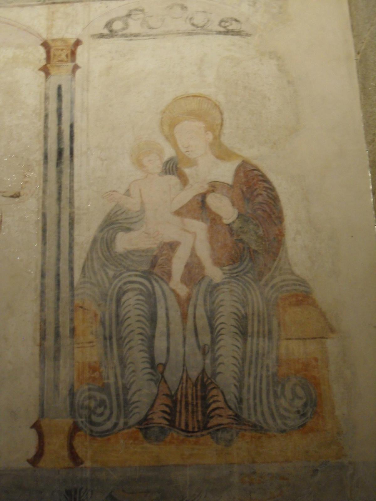 Galicia, pinturas Murales Iglesa de santiago de Rubiu00e1s  SAM 2589