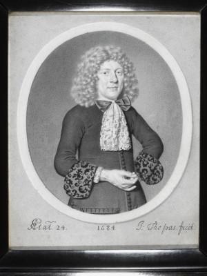 2 Johann Thopas Retrato de un hombre de 24 años 1684 Imagen ©Victoria and Albert Museum