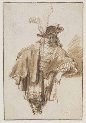 3 Atribuido a Gerbrand van den Eeckhout Hombre de pie a tres cuartos  sobre 1560 Imagen ©Victoria and Albert Museum
