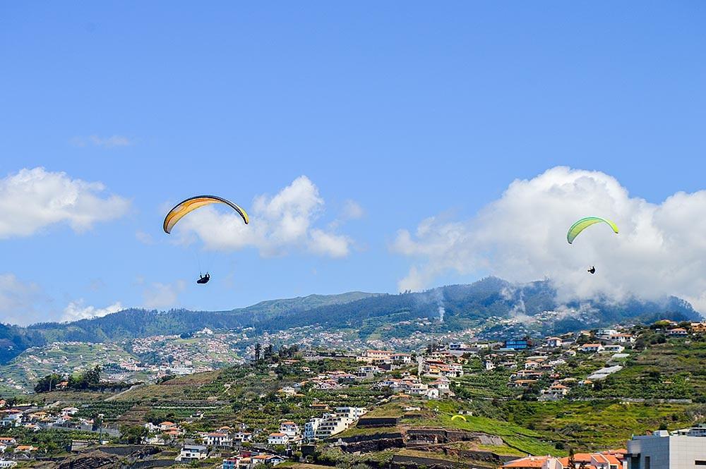 Madeira Parapente sobre Funchal