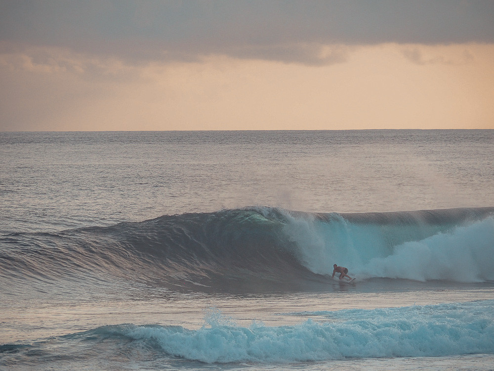 Early morning surf at Cloud 9 Siargao