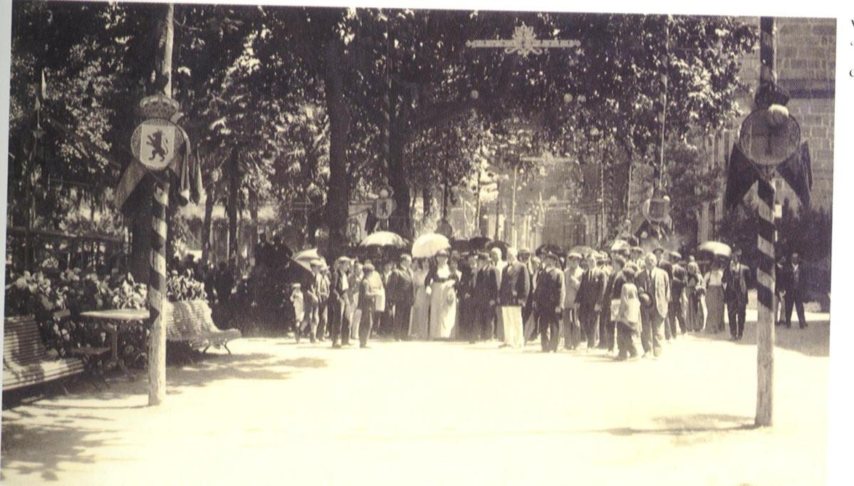 Balneario de Mondariz. Visita de la infanta Isabel de Borbón en 1914