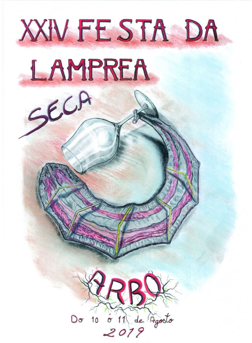 Cartel Lamprea Seca 2019r