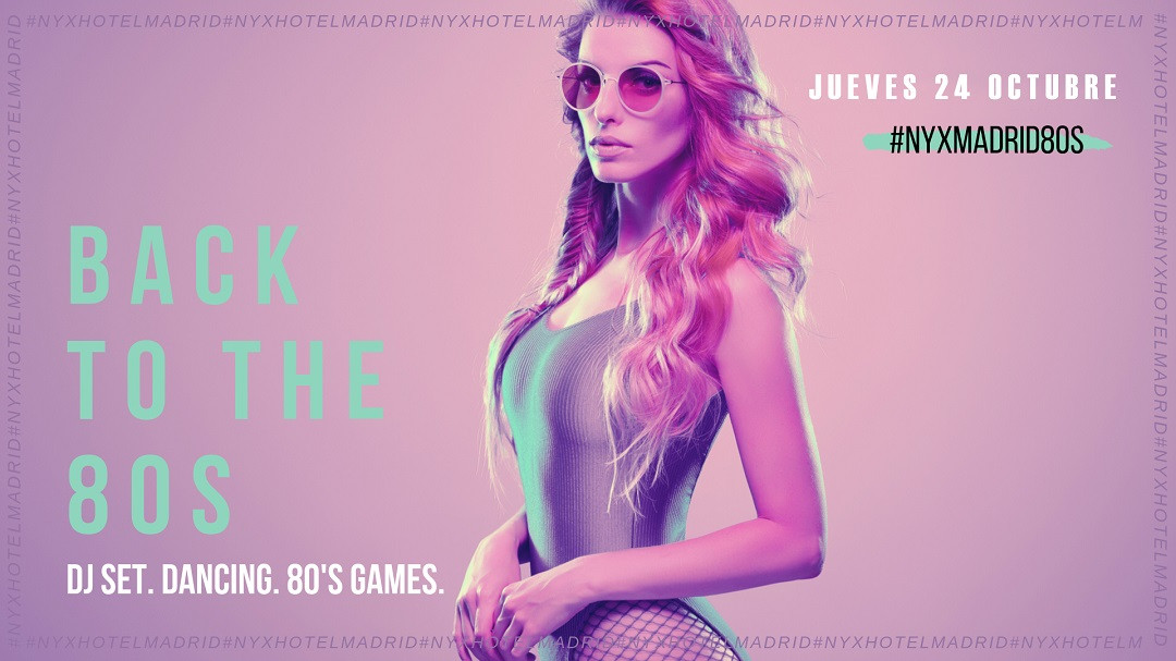 NYX MADRID   80'S PARTY   FB Event Banner