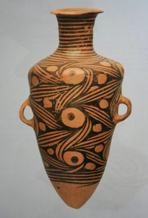 u00c1nfora de la cultura Majiayao, Gansu, 3300 2100 a. C. BC (Foto Kupfer)