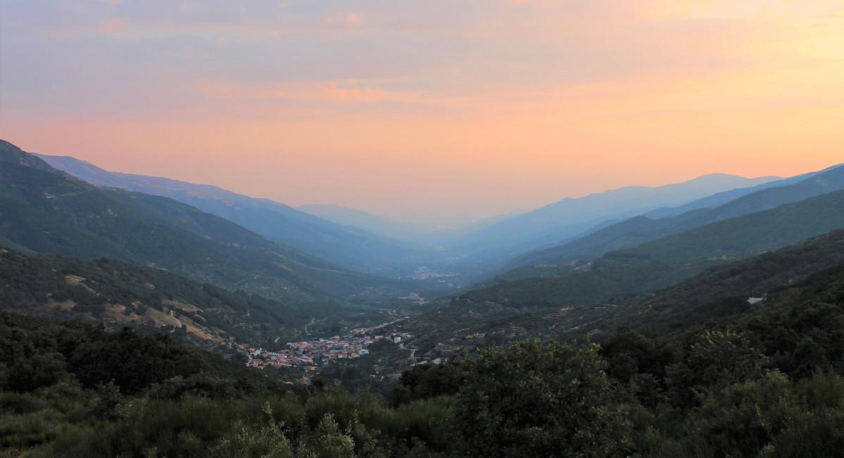 Valle del Jerte desde el puerto de Tornavacas. 1537