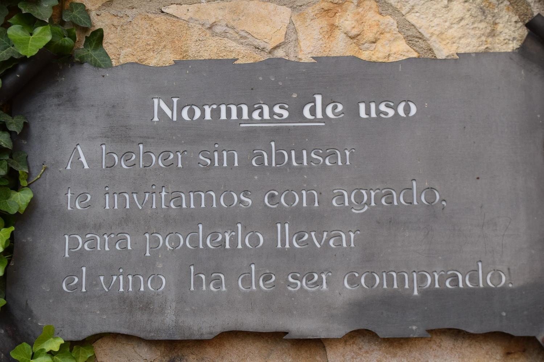CaminodeSantiagoFuentedelVinoNormasDSC 0266
