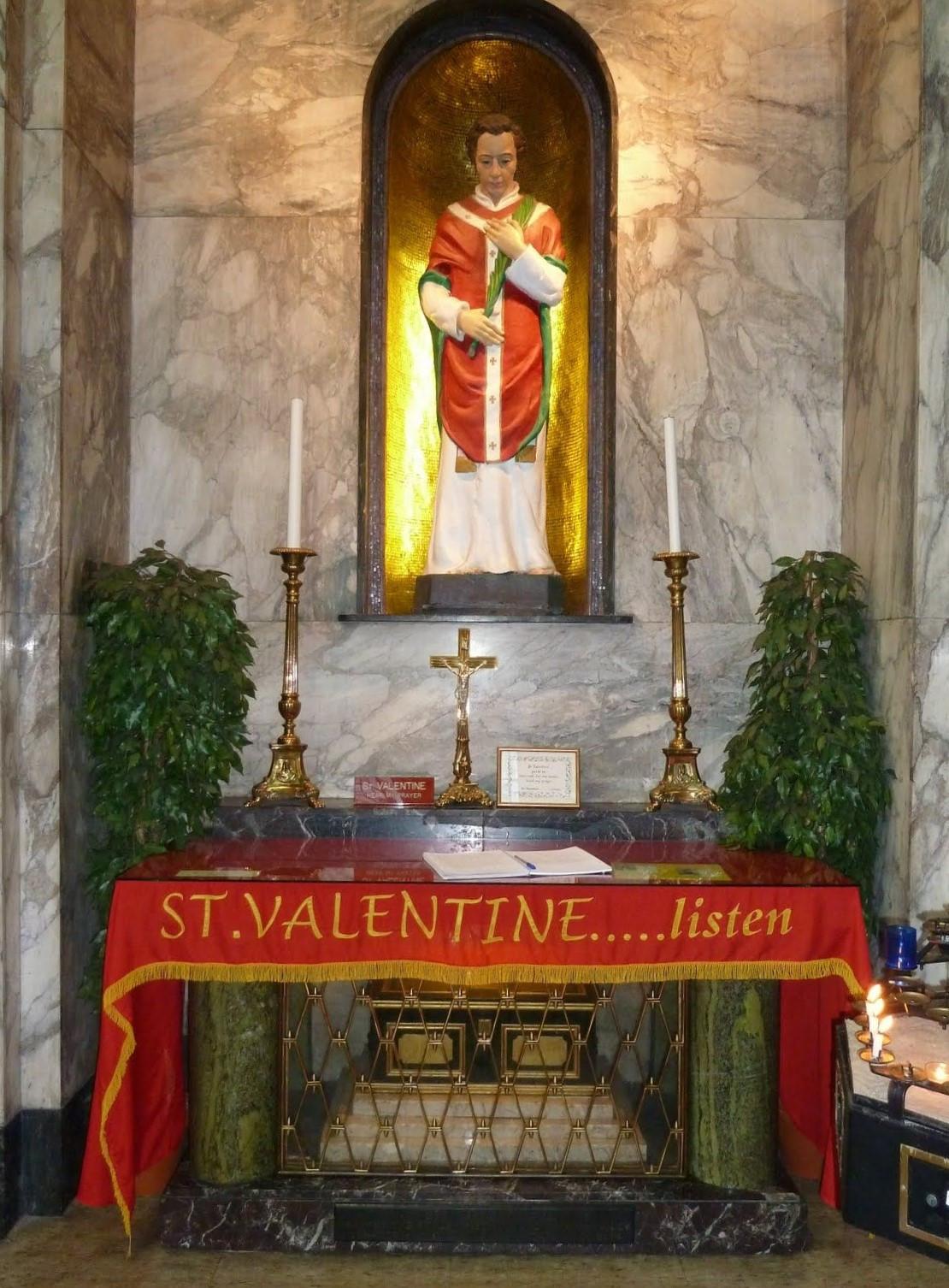 Shrine of St Valentine, Whitefriar Street Church, Dublin r